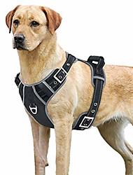 cheap -no-pull dog harness with handle adjustable reflective pet
