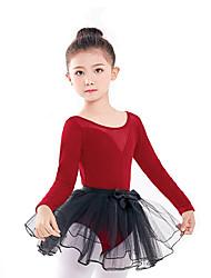 cheap -Ballet Skirts Lace Girls' Training Performance Long Sleeve Elastane Cotton