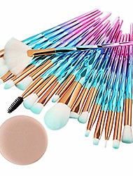 cheap -20pcs/set makeup brushes set, professional cosmetic for foundation blending blush concealer eye shadow brushes with 1 powder puff & # 40; and& #41;