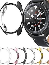 cheap -Cases For Galaxy Watch 3 45mm / Galaxy Watch 3 41mm Tempered Glass / PU(Polyurethane) Compatibility Samsung Galaxy