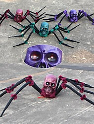 cheap -Halloween Party Toys Halloween Spider Plush Spider Prank Joking Props Ghost Head Simulation Party Favors Plastic Kid's Adults Trick or Treat Halloween Party Favors Supplies