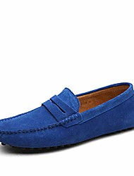 cheap -men's boat shoes fashion slipper buckle style loafers moccasin driving shoes flats sapphire blue