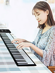 cheap -88 Keys Flexible Roll Up Piano Electronic Hand Roll Keyboard Piano with Louderspeaker KB-02