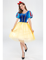 cheap -Snow White Princess Movie / TV Theme Costumes Cosplay Costume Costume Adults' Women's Halloween Halloween Festival Halloween Festival / Holiday Tulle Polyester Blue Women's Easy Carnival Costumes