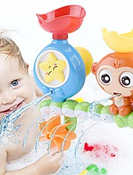 cheap -bath toys, bath wall toy with waterfall station toy, bathtub toys for toddlers kids babies 1 2 3+ year old boys girls…