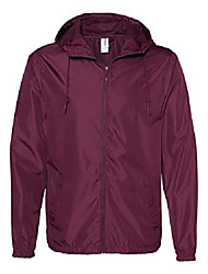 cheap -independent trading company lightweight windbreaker, burgundy, xx-large