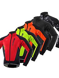 cheap -Arsuxeo Men's Cycling Jacket Winter Fleece Spandex Bike Windbreaker Winter Fleece Jacket Pants Fleece Lining Sports Red / Blue / Orange Mountain Bike MTB Clothing Apparel Regular Fit Bike Wear