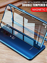 cheap -Magnetic Case for OnePlus OnePlus Nord OnePlus 8 8Pro OnePlus 7 7Pro 360 Protection Double sided Tempered Glass Metal Magnet Adsorption Protective Phone Case