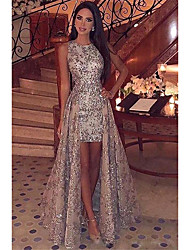 cheap -Women's Sheath Dress Maxi long Dress - Sleeveless Solid Color Sequins Fall Elegant Sexy Party 2020 Silver S M L XL