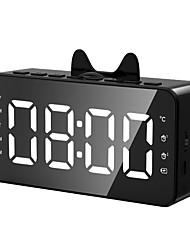cheap -Y8 Wireless Bluetooth 5.0 Speaker FM Radio Clock Real Time Temperature Speaker Mirror Soundbar Column Handsfree Call USB Charge