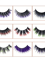 cheap -Gradient Colored Eyelashes for Beauty Salons Thick Lifelike Handmade False Eyelashes Halloween Party