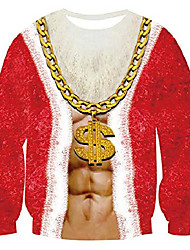 cheap -men women ugly christmas lit santa christmas tee shirt funny x-mas gift clothes top for family couples