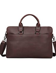 cheap -Men's Bags PU Leather Laptop Bag Briefcase Top Handle Bag Belt Zipper 2020 Office & Career Black Coffee
