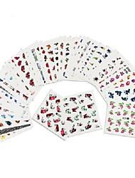 cheap -50 pcs 3D Nail Stickers Nail DIY Tools Full Nail Stickers nail art Manicure Pedicure 3D Fashion Daily