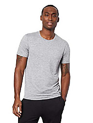 cheap -mens cool quick dry active basic crew t-shirt, aerial grey space dye, x-large