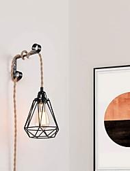 cheap -450 cm Geometric Shapes Pendant Light Hemp Rope Rope Painted Finishes Vintage Island 110-120V 220-240V