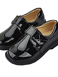 cheap -Boys' Girls' Flats First Walkers Flower Girl Shoes Children's Day Patent Leather PU Lace up Little Kids(4-7ys) Big Kids(7years +) Daily Party & Evening Walking Shoes Split Joint Black Fall Spring