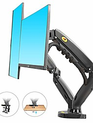 cheap -dual monitor desk mount stand full motion swivel computer monitor arm for two screens 17-27 inch with 4.4~19.8lbs load capacity for each display f160