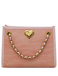 cheap -Women's Bags PU Leather Chain 2020 Daily Holiday Black Blushing Pink Green Gray