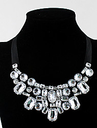 cheap -Women's Statement Necklace Chunky Luxury Imitation Diamond Alloy White 60 cm Necklace Jewelry For Prom Birthday Party