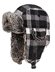 cheap -unisex trapper trooper hat hunting hat for men and women ushanka ear flap chin strap - updated new model