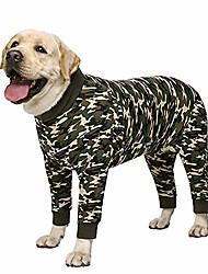 cheap -dog pajamas jumpsuit for medium large dogs lightweight adorable pet clothes jumpsuit pjs apparel onesies large size dog shirt after surgery,grey/camo available