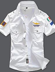cheap -Men's Shirt Geometric Sleeveless Daily Tops Cotton Streetwear Military White Black Blue