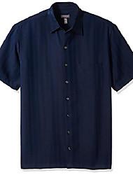 cheap -men's big and tall air short sleeve button down poly rayon stripe shirt, deep phantom, 2x-large