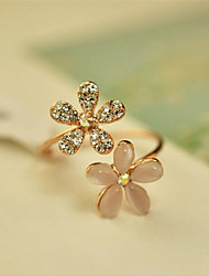 cheap -Ring Classic Gold Alloy Flower Fashion 1pc Adjustable / Women's