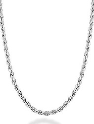 cheap -solid 925 sterling silver italian 2mm, 3mm diamond-cut braided rope chain necklace for men women made in italy 16, 18, 20, 22, 24, 26, 28, 30 inch (20, 2mm)