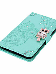 cheap -Case For Huawei Scene Map Huawei P Smart 2020 Y5P Y6P Dot Diamond Owl Pattern Embossed Flip Leather Case PU Material Can Insert Card Leather Case Phone Case YK