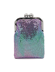 cheap -Women's Bags Polyester Alloy Evening Bag Glitter Sequin Solid Color Handbags Wedding Event / Party Black Rainbow