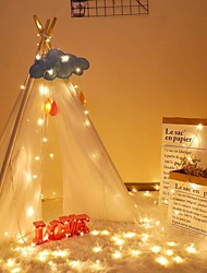 cheap -3m 6m 10m LED Christmas String Lights 20/40/80 LED for Christmas Holiday Party Wedding Bedroom Patio Decoration Christmas Flasher Fairy Lights