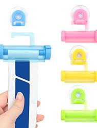 cheap -4pcs Facial Cleanser Squeezer Clip Tube Squeezer Toothpaste Dispenser Vacuum Sucker Hook Dispenser Squeeze