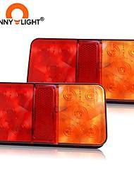 cheap -CNSUNNYLIGHT Car Truck 10 LED Rear Tail Light Warning Lights Rear Lamps Waterproof Tailight Parts for Trailer Caravans DC 12V
