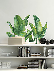 cheap -WallDecals Decor Vinyl DIY Green Tree Leaves Wall Stickers Removable Waterproof Wallpaper Decals Art Easy Peel & Stick for Kids Room Living Room Bedroom 30*90*2CM