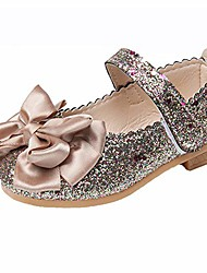 cheap -toddler girls ballet mary jane flats bowknot ballerina wedding princess dress shoes (gold,24)