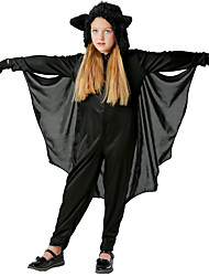cheap -Bat Snow White Movie / TV Theme Costumes Cosplay Costume Costume Kid's Girls' Halloween Festival Festival / Holiday Polyester Black Easy Carnival Costumes Solid Colored / Gloves / Gloves