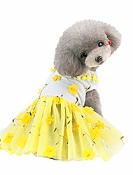 cheap -small dog girl dress pet clothes lace tutu bow shirt skirt cat puppy clothing