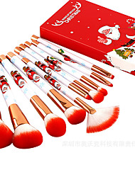 cheap -Merry Christmas 10pcs Christmas Makeup Brushes Set Portable Makeup Tools