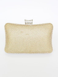 cheap -Women's Bags Polyester Alloy Evening Bag Glitter Crystals Solid Color Handbags Wedding Event / Party Gold Silver