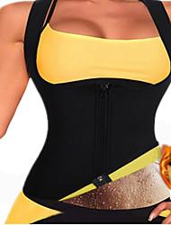 cheap -Waist Trainer Vest Body Shaper Sweat Waist Trainer Corset Sports Spandex Yoga Gym Workout Pilates Durable Weight Loss Tummy Fat Burner Hot Sweat For Men Women