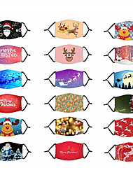 cheap -Adjustable Mask Retractable Nonwoven Dust Proof Breathable Mask Christmas Santa Claus