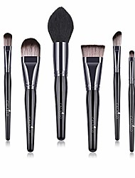 cheap -makeup brushes 8pcs makup brush set synthetic foundation powder brush concealers eyeshadow eyebrow blending brush kit conical wooden handle. & #40;black black& #41;