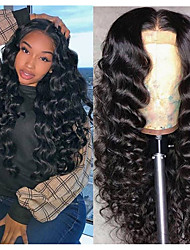 cheap -Synthetic Wig Afro Curly Middle Part Wig Long Very Long Black Synthetic Hair 65 inch Women's Party Middle Part Fluffy Black
