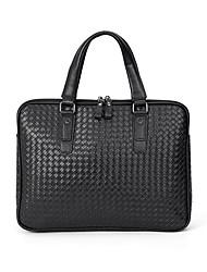 cheap -Men's Bags PU Leather Laptop Bag Briefcase Top Handle Bag Belt Zipper 2020 Office & Career Black