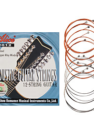 cheap -NAOMI Alice 12 Strings Acoustic Guitar String A2012 Stainless Steel Coated Copper Alloy Wound Strings Guitar Accessories