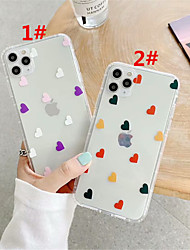 cheap -Case For Apple scene map iPhone 11 11 Pro 11 Pro Max color small love pattern high translucent TPU material air pressure drop-resistant mobile phone case