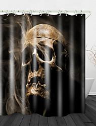 cheap -Mist Skull Digital Print Shower Curtain Digital Printing Shower Curtain Shower Curtains & Hooks Modern Polyester New Design