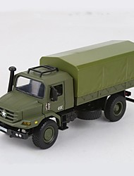 cheap -1:18 Plastic Aluminum-magnesium alloy Truck Military Vehicle Toy Truck Construction Vehicle New Design Simulation assembled packing All Unisex Kids Car Toys